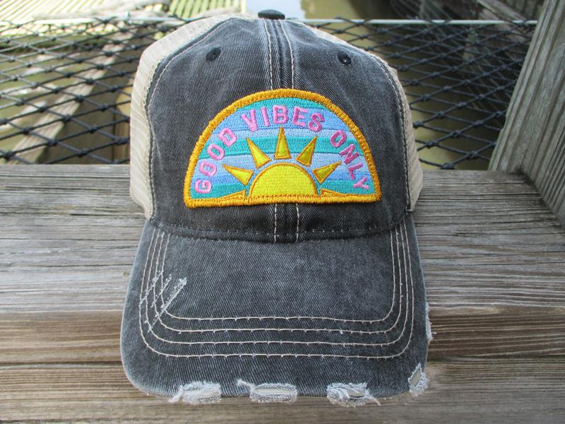 Trucker Good Vibes Only Asst Color,KDC-TC-484