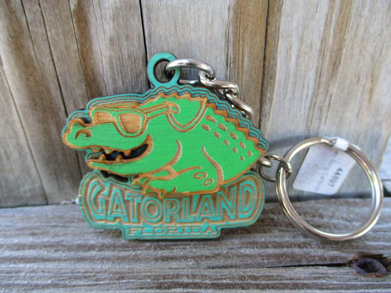 Key Ring Cartoon Gator,GL-52BL
