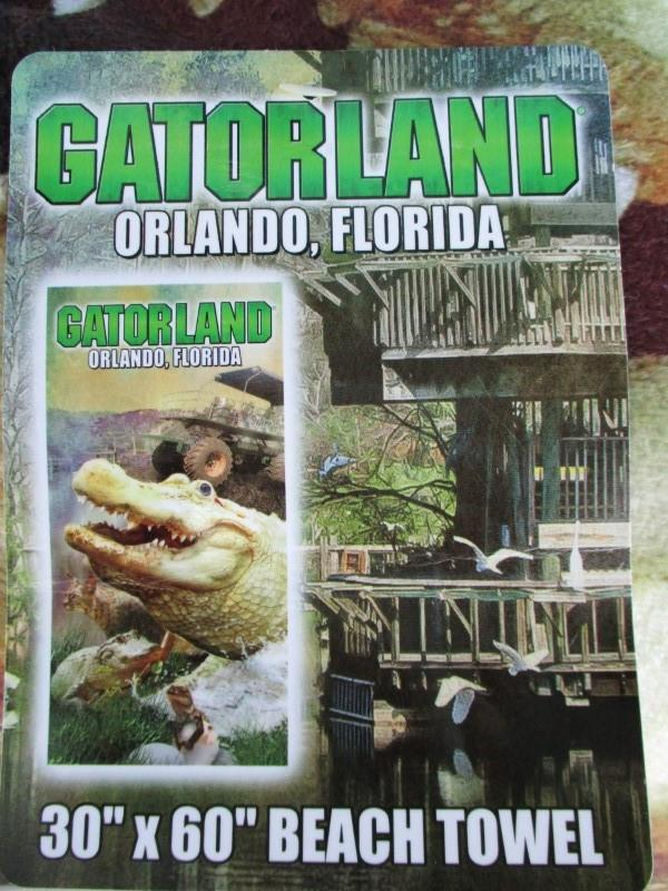 White Gator Towel
