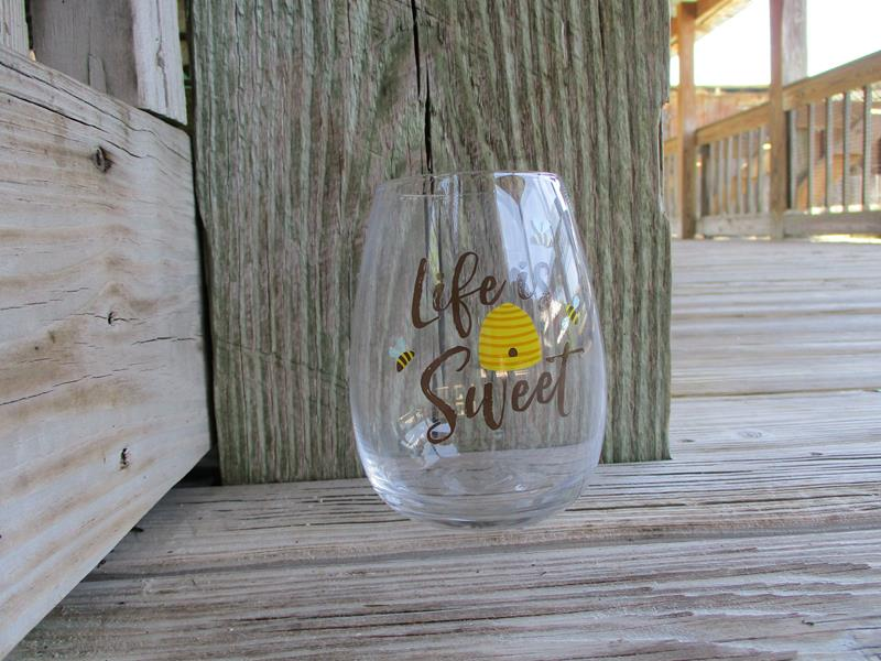 Life Is Sweet Honey Bee Stemless