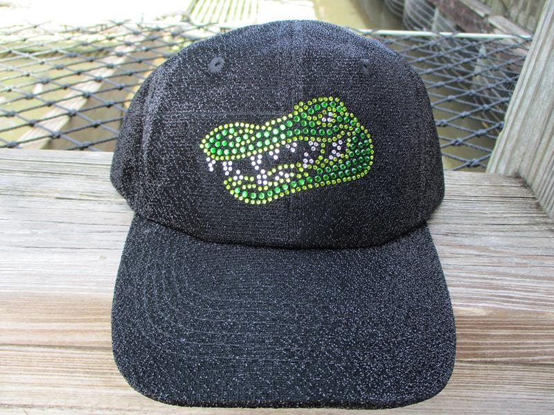 Cap Alligator Black Shimmer,C17SHBK