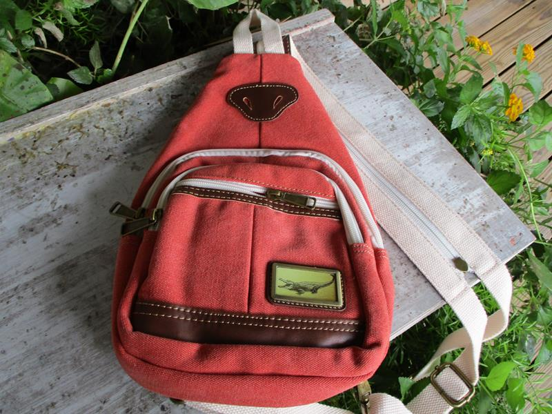 Adventure Canvas Sling Purse Coral,3979C