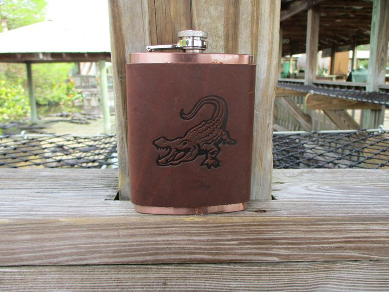 Leather Flask,FLASK LEATHER: