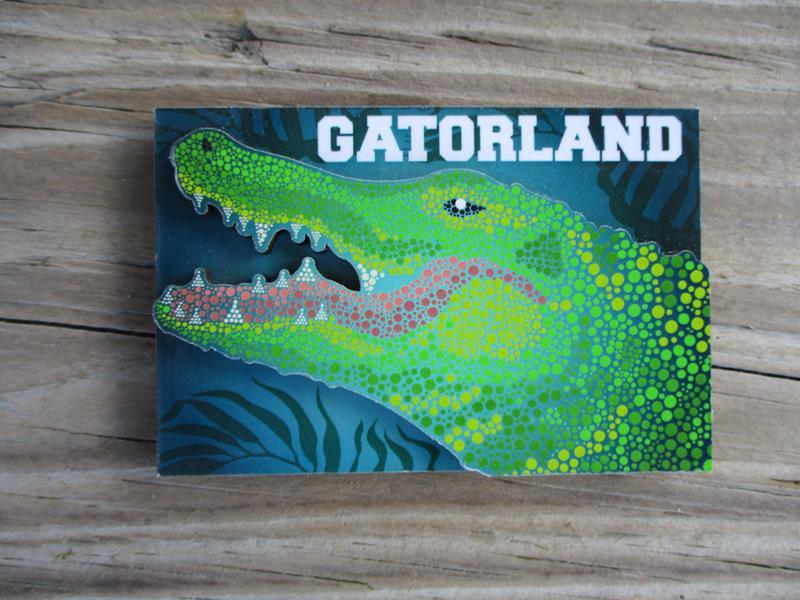 Magnet Alligator 2D Magnet,10-29982