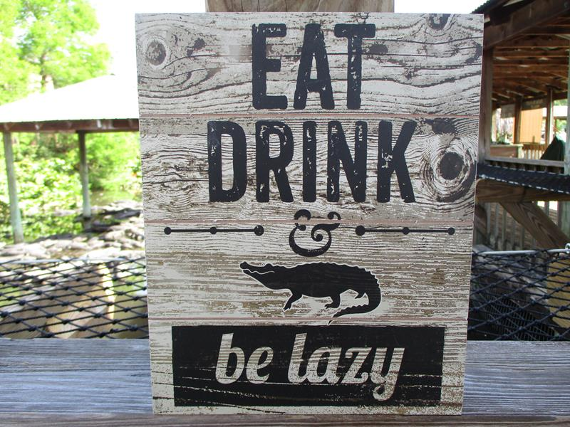 Sign Gone Fishing OR Eat Drink Be Lazy