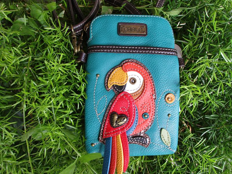 Cell Phone Crossbody Red Parrot,827PRR7