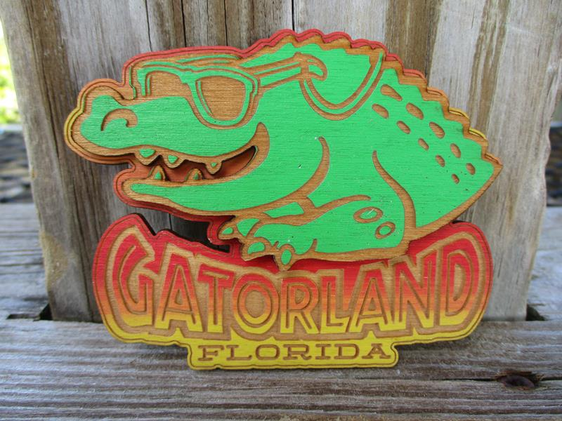 Magnet Cartoon Gator,GL-32