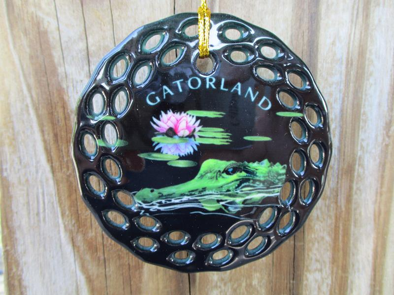 Ornament Lotus Crocodile,76071-01049