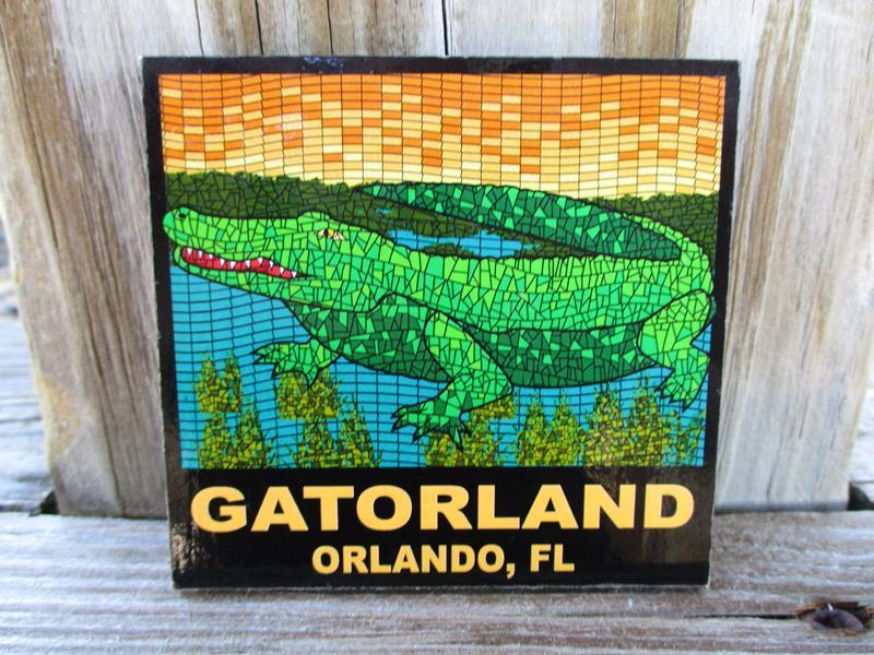 Magnet Mosaic Gator,17-26759