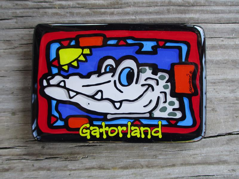 Magnet White Gator Face,SM033W
