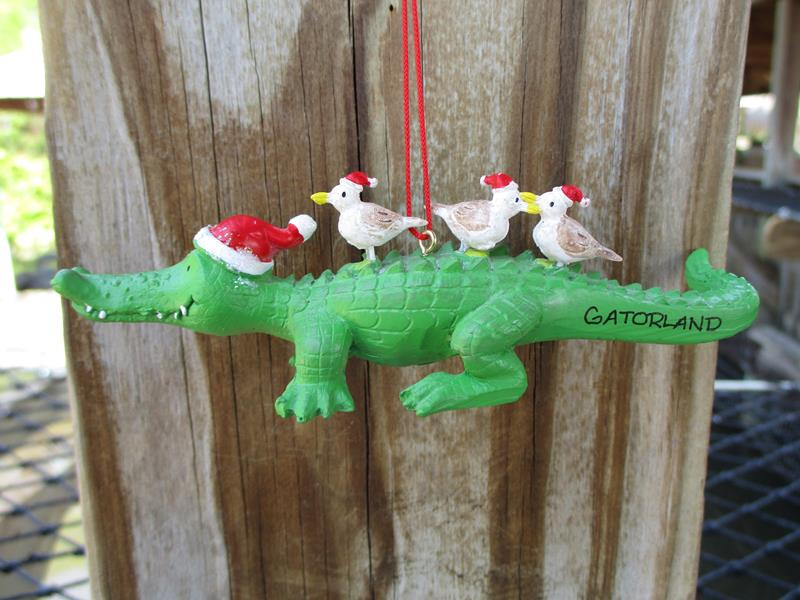 Ornament Gator & Seagull,873-21