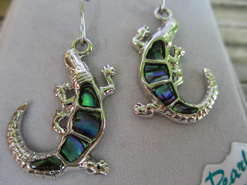 Wild Pearl Alligator Earrings