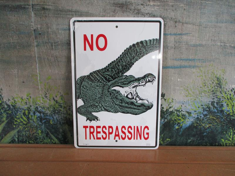 Sign NoTresspassing Gator,SWS002