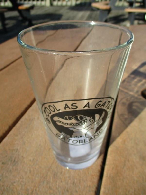 Cool as a Gator Pub Glass