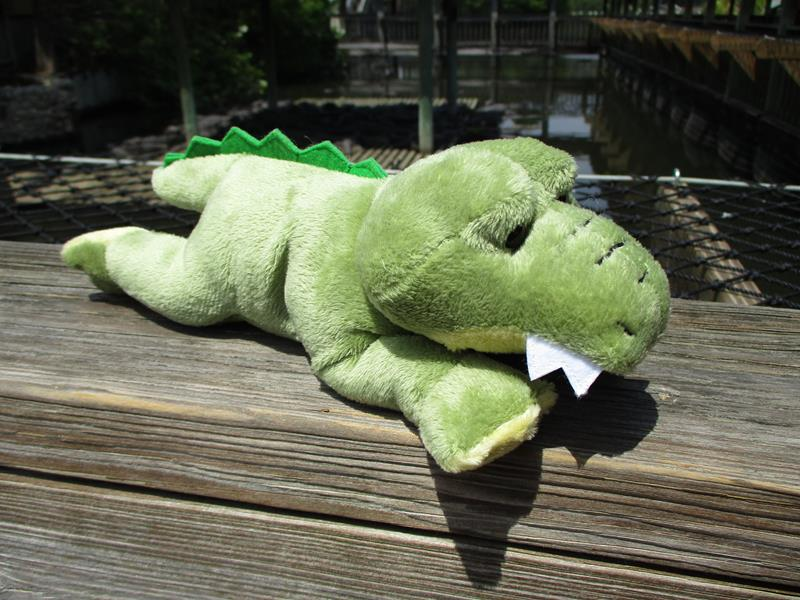 "8"" Bean Bag Alligator,H14658"