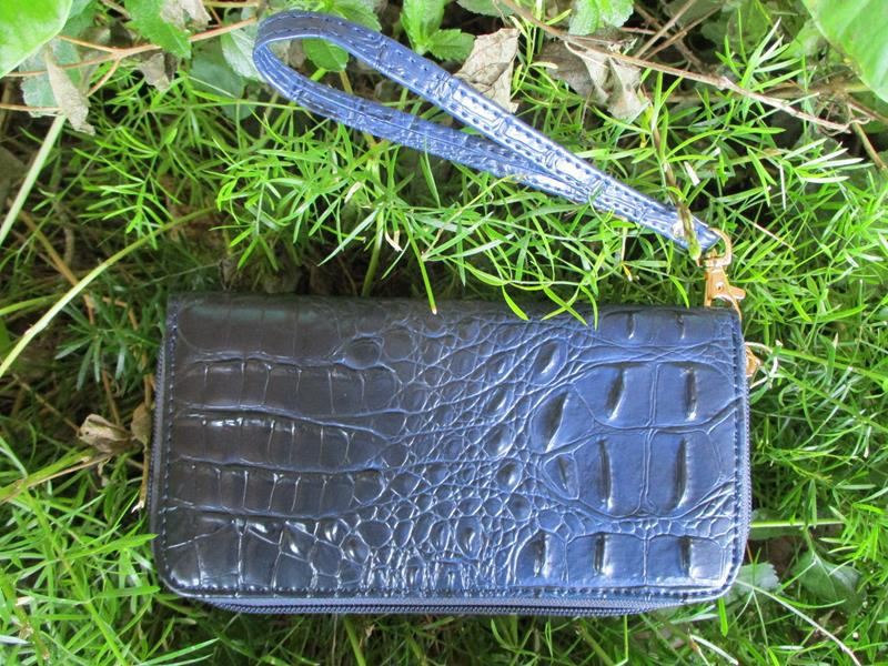 Wallet Navy Croc Embossed,WL0005-NV
