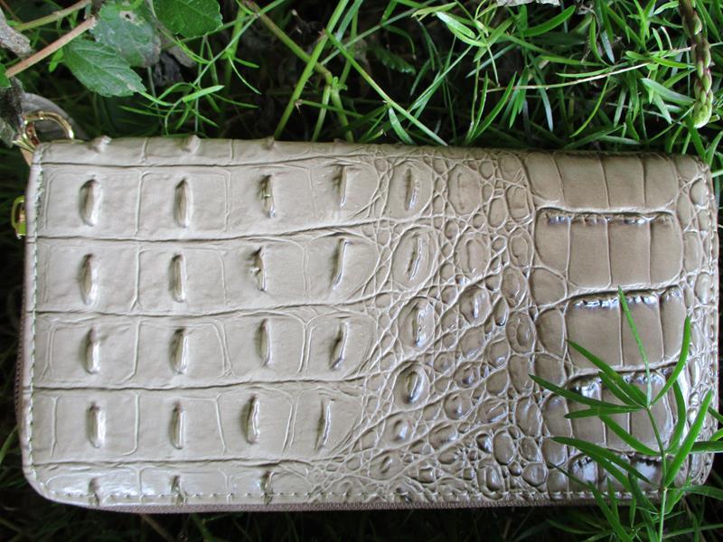 Wallet Khaki Embossed Crocodile,WKL0005 KH