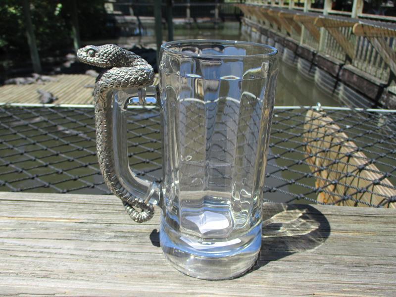 Mug Pewter Rattlesnake
