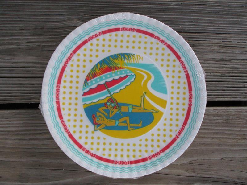 Florida Melamine Paper Plate Set 4,ME0439