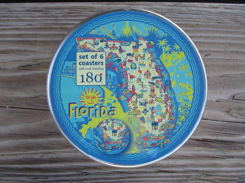 Florida Coaster 6 Asst,ME0439