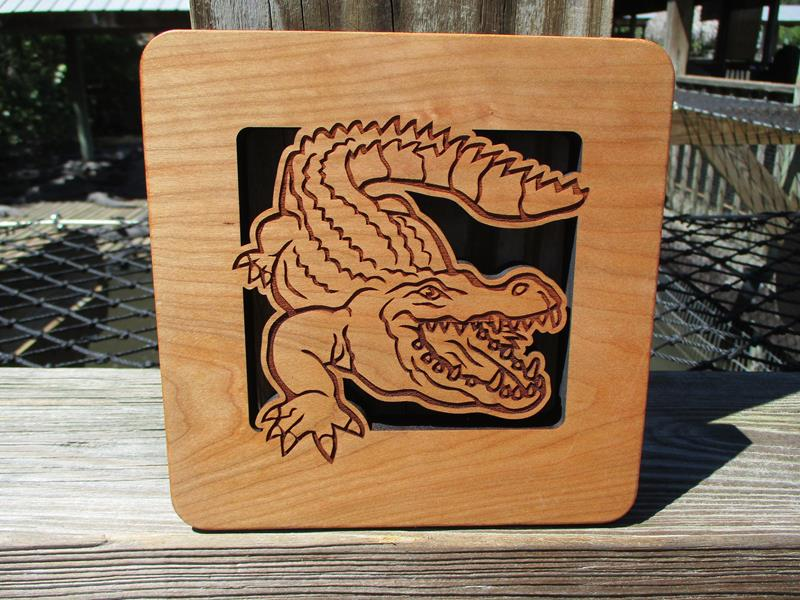 Trivet Wooden Alligator,TRI-GATOR