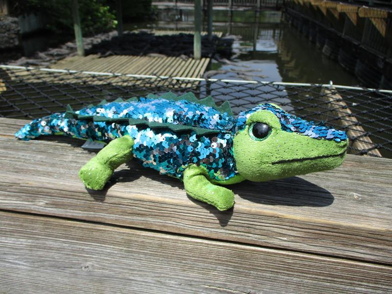 """12"""" Sequin Alligator,FS3174"""
