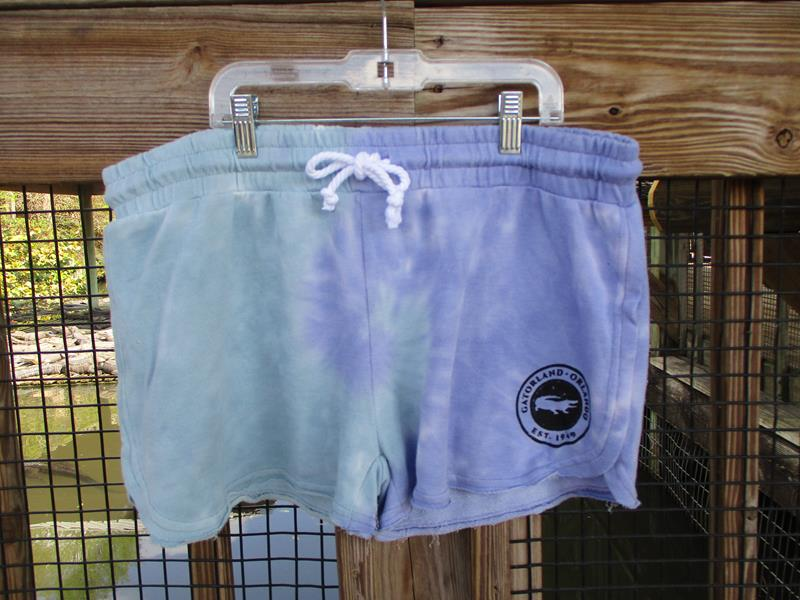 Tie Dye Shorts,7017T-MINT-PURPLE