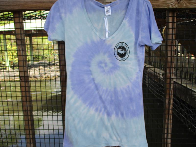 V-Neck Tie Dye Tee,809T-MINT-PURPLE